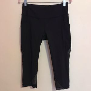 Lululemon Mesh Crop Leggings Black Size 8